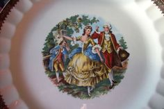 Victorian decorative plate/ Vintage Prim Rose China collectible porcelain serving plate/ National Brotherhood of Operative Potters by UpcycledCottageDecor on Etsy
