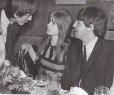 ♡♥Paul with his date and George at the 'Pickwick Club' in 1963♥♡