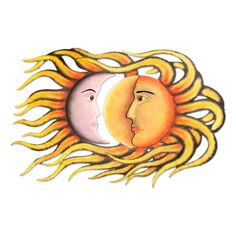 Sun And Moon Eclipse Steel Art Wall Décor