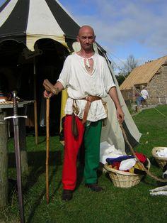 14th Century Parti-coloured Split Hosee from Cloak'd & Dagger'd