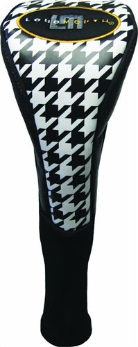 Driver Headcovers by Loudmouth Golf - Oakmont Houndstooth.  Buy it @ ReadyGolf.com