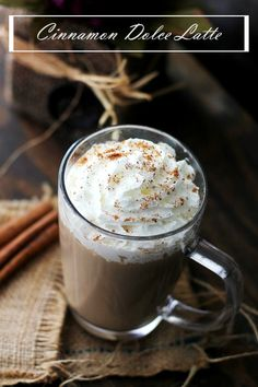 An exact replica of Starbucks' deliciously sweet, warm and comforting Cinnamon Dolce Latte.