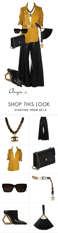 """""""Untitled #438"""" by stylzbyang ❤ liked on Polyvore featuring Chanel, E L L E R Y, Adolfo and Karl Lagerfeld"""