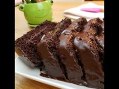 Super moist cake from scratch with creamy chocolate frosting.