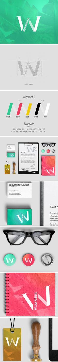 see the development of William Naranjo Designer corporate image here: https://www.behance.net/gallery/35023103/William-J-Naranjo-Designer-Personal-identity