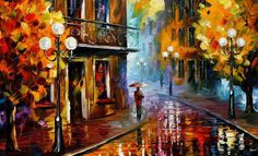 My fav. artist alive Leonid Afremov ... ;)