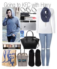 """""""Going to KFC with Harry"""" by fashion-onedirection ❤ liked on Polyvore featuring Topshop, White Stuff, Forever 21, Pilgrim, NARS Cosmetics, Giuseppe Zanotti and Bobbi Brown Cosmetics"""