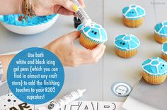 Star Wars Cupcakes - Your kid will love these for a themed party. Plus, they are easy to make!