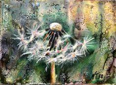 """Diente de león"", 2018    #encaustic   , #finearts  #dandelions #blumen #flowerart #encausticpainting #abstractart #bigmagic #artgallery #inspiremyinstagram #flowstate #creativflow #artzone #creativeflow #contemporaryart #contemporaryart #fineart #art #collectorsart #njasiksart #abstaktekunst #interiorinspiration"