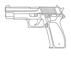 How To Draw A Simple Gun Step By Step Guns Weapons Free Online