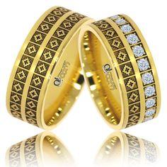 Verighete Lux Romanita aur  galben Couple Rings, Bangles, Bracelets, Dream Wedding, Rings For Men, Wedding Rings, Engagement Rings, Band, Model