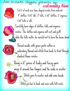 how to fabric flowers | Get the whole tutorial here and pdf … | Flickr