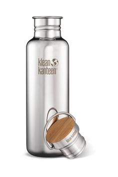 Klean Kanteen Polished Stainless-Steel Reflect Water Bottle with Bambo / REI #sponsored