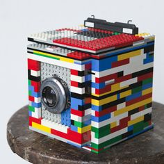 A 4x5 made out of Legos.