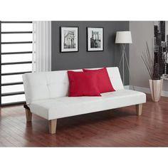 Aria Futon Sofa Bed, White - Walmart.com