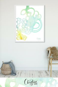 Pantone, Watercolor Artist, Drawing, Illustration, Minimalism, Art Pieces, Vibrant, Abstract, Room