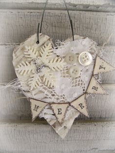 Handmade Christmas Ornament Vintage Lace Ornament