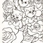 Lisa Frank cute cats Coloring Pages