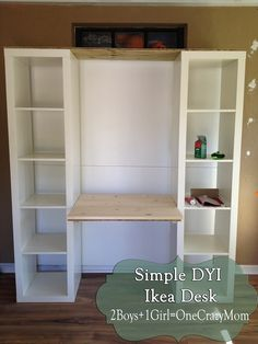 Build a desk out of Ikea Expedite units #DYI project                                                                                                                                                                                 More