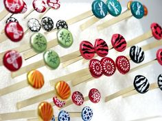 Frugal Crafter Make own painted brads...these are so amazing!!! Why buy them already decorated?