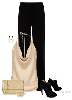 A fashion look from December 2015 featuring beige top, Mint Velvet and black booties. Black Garden, Giuseppe Zanotti, Mixer, Polyvore Fashion, Peach, Gardens, Velvet, Michael Kors, Holiday