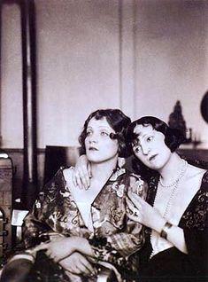 Marlene Dietrich and friend.