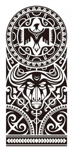 Maori sleeve tattoo