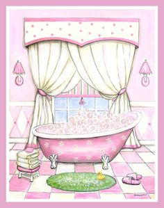 Pink Bathroom Wall Decor Lovely Girl S Bath Art Pink Tub Wall Art for Bathroom Bathroom Pictures Feminine Bath Bath Decor Bath Art, Diy Bathroom Decor, Bathroom Wall Decor, Bath Decor, Mosaic Bathroom, Bathroom Colors, Pink Tub, Pink Bathroom Accessories, Bathroom Decor Pictures