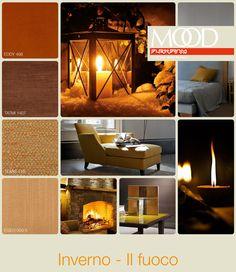 FLEXFORM MOOD   WINTER - FIRE #INSPIRATION #colour #materials