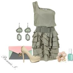 Love this adorable ruffle dress, created by bonnaroosky on Polyvore