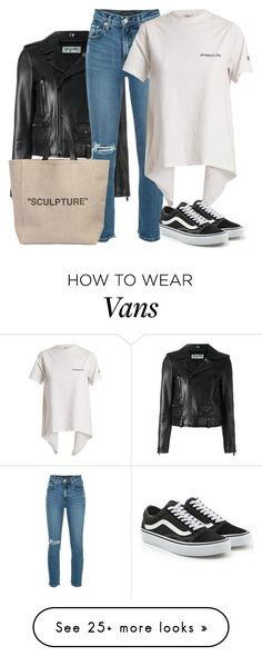 """""""Untitled #4955"""" by ericacavaco12 on Polyvore featuring Yves Saint Laurent, Nobody Denim, Vetements, Vans and Off-White"""