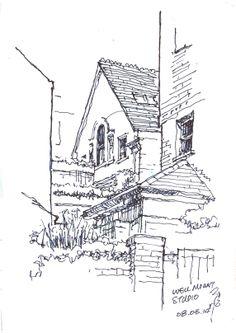 10 x 14.5cm, coloured gel ink pen Hampstead