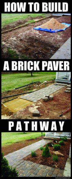 How To Build A PaveStone Home Entranceway - Home and Garden Design