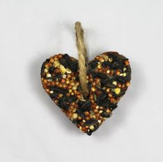 Rustic Wedding Favors  40 Heart Bird Seed Ornaments by BarnWillow, $56.00