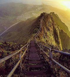 Stair Way To The Heaven, Honolulu, Hawaii ~ Photograph By @oscarpedroso