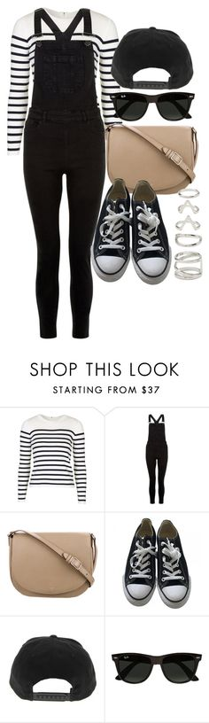 """""""Style #11460"""" by vany-alvarado ❤ liked on Polyvore featuring Topshop, New Look, CÉLINE, Converse, Ray-Ban and Forever 21"""