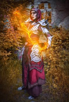 Two Amazing Cosplayers Bring Your Favorite Blackwood Characters to Life  - The Elder Scrolls Online Arrow Costume, Triss Merigold, Elder Scrolls Online, Black Oil, Red Paint, The Rock, Real Leather, Bring It On, Characters