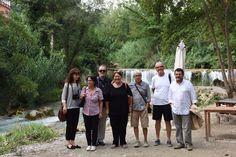 Con Graham, Ellen, il prof. Ticchiarelli e gli altri amici