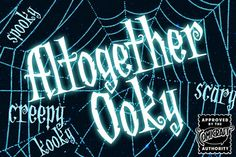 It's Creepy and it's Kooky, it's Altogether Ooky; it's the Addams Family font! Created by Comicraft's Festering Fontmeister, John Roshell, for 'The New Addams Family' TV series, Altogether Ooky is just The Thing you'll be looking for when Gomez and Morticia come knocking at your door.