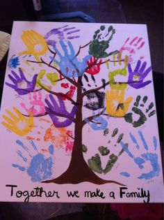 I did this with my family two years ago but just in rows not the tree form i like the tree cause you can overlap better!