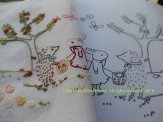 Sweet Apple tree (bunny with the golden apple) Hand Embroidery PDF Pattern. $4.00, via Etsy.