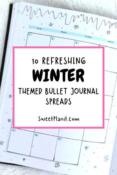 Enjoy the winter by adding cool and refreshing winter themes to your bullet journal. This inspiring collection includes mood trackers, cover pages, weekly and monthly themes and more! Bullet Journal Log, Bullet Journal Tracker, Bullet Journal Spread, Bullet Journal Layout, Book Journal, Bullet Journals, Journal Inspiration, Journal Ideas, Sticker Organization