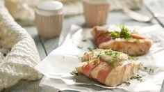 Dorsz w szynce pod chrzanową pierzynką Lidl, Fresh Rolls, Guacamole, Sushi, Japanese, Ethnic Recipes, Food, Japanese Language, Essen