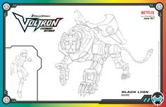 Cartoon Coloring Pages, Free Coloring Pages, Coloring Sheets, Baby Birthday, Birthday Parties, Voltron Force, Lance Mcclain, Black Lion, Form Voltron