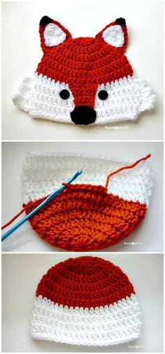 Crochet Fox Hat – A Free Pattern - 50 Free Crochet Fox Patterns - Crochet Fox Hat - DIY & Crafts