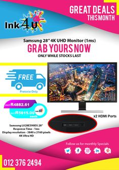 Samsung PC Gaming Monitor at Printer Cartridge, Display Resolution, 4k Uhd, Monitor, Gaming, Videogames, Game, Toys, Games