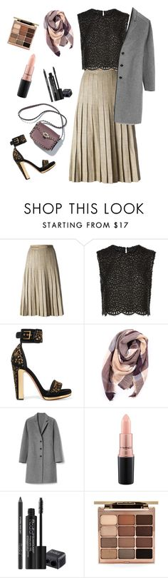 """""""Untitled #662"""" by waila-3 ❤ liked on Polyvore featuring CÉLINE, Costarellos, Alexander McQueen, Everest, Gap, MAC Cosmetics, Rodial and Stila"""