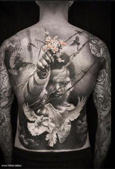 beeindruckende samurai tattoos kopf tattoos bilder und tattoo ideen. Black Bedroom Furniture Sets. Home Design Ideas