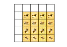 Tiles for the bee matrix game. Find the belonging board on Autismespektrum on Pinterest. By Autismespektrum.