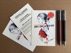 """Diseño de los flyers de Pepita Lumier art&shop para la exposición de: DAVID DESPAU """"HEY, OH, LET´S GO"""""""